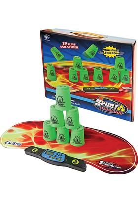 Hi-Q Toys Speed Stacks (Dijital Saatli 12'li Hız Bardakları) - Yetenek Oyunu