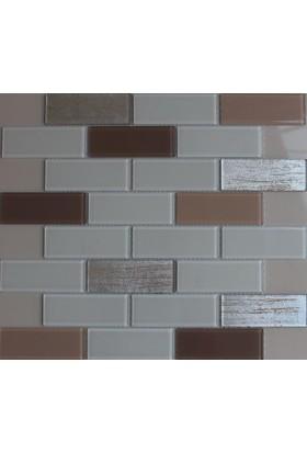 Mcm Mutfak Tezgah Arası Kristal Cam Mozaik 762