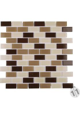 Mcm Mutfak Tezgah Arası Kristal Cam Mozaik Mp 423