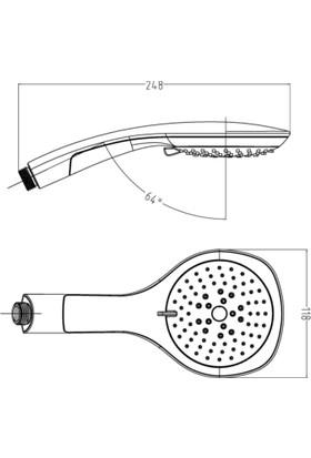Tema Bianco Lüx 5 Fonksiyonlu Duş Başlığı 55085 (Blister Ambalaj)