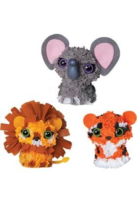 Orb Factory Plushcraft™ Zoo Animals (3D Minis)