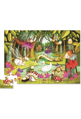 Crocodile Creek Şekilli Kutu Kat Kat Puzzle - Orman Perisi