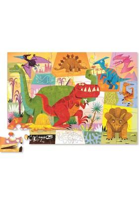 Crocodile Creek Şekilli Kutu Puzzle - Dinazor