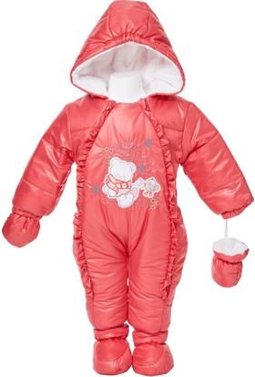 Buude Kız Bebek Astronot Kozmonot Patikli Eldivenli Tulum 6519