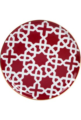 "LoveQ Porland Fuşya Porselen Tabak ""Morocco"" 20 Cm"