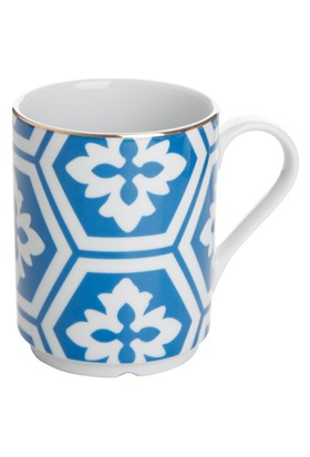 "LoveQ Porland Mavi Porselen Kupa ""Morocco"" 12X10 Cm"