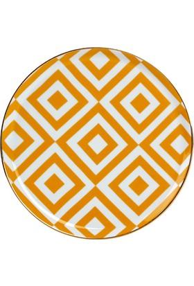 "LoveQ Porland Sarı Porselen Tabak""Morocco"" 20 Cm"