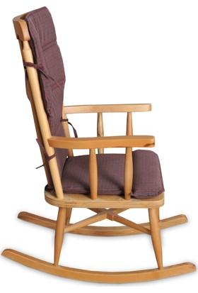 Teksas Bordo Minderli Sallanan Sandalye
