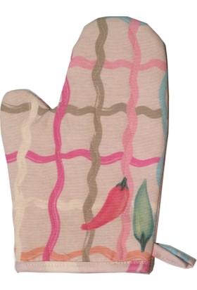 Ayça Ak özel tasarım biberli küçük boy fırın eldiveni