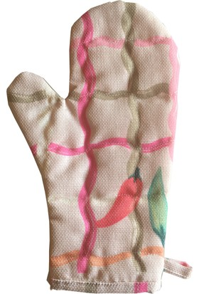 Ayça Ak özel tasarım biberli büyük boy fırın eldiveni