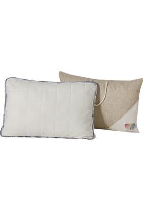 Hibboux 50x70 Soft Flannel Yıkanabilir Kılfılı Pamuk Yastık 900 gr