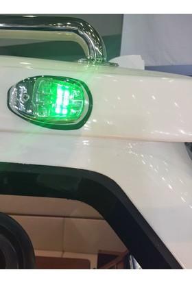 Sl10 Led'Li İskele - Sancak Seyir Feneri - Beyaz Renk 12V