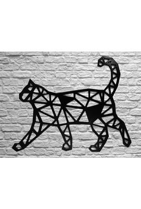 Ahşap Dekoratif Kedi Duvar Süsü