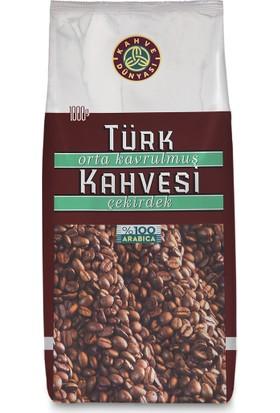 Kahve Dünyası Orta Kavrulmuş Türk Kahvesi Çekirdek 1Kg