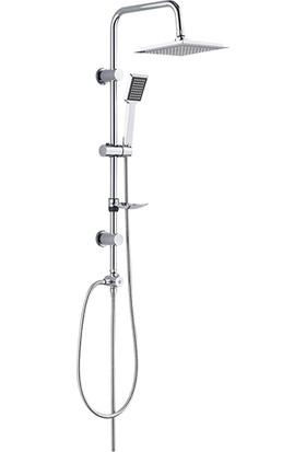 Tema Banyo Rain Quadro Tepe Duş Takımı Seti 53240