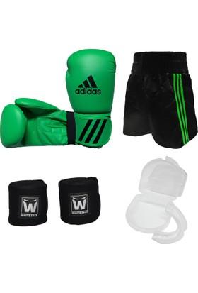 Adidas Kick Boks Seti Unisex Yeşil 10 oz