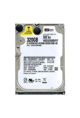 "WD 320Gb Wd3200Bvvt 2.5"" Sata Notebook Harddisk Hdd İthalatçı Garantili"