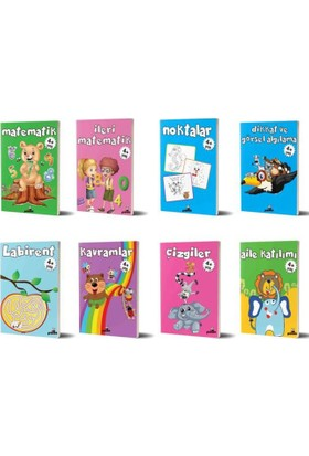 Beyaz Panda 4+ Yaş 8 Kitap Set