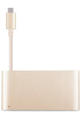 Moshi USB-C / Multiport Altın Renk Çevirici