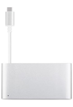 Moshi USB-C / Multiport Gümüş Renk Çevirici