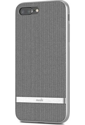 Moshi Vesta iPhone 8 Plus / 7 Plus Balıksırtı Gri Telefon Kılıfı