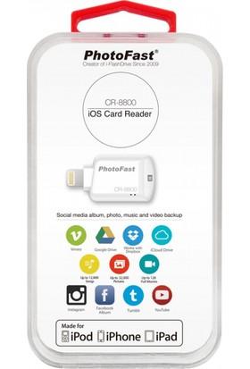 PhotoFast CR-8800 iOS MicroSD Beyaz Kart Okuyucu BPF-CR8800W