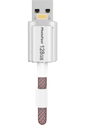 PhotoFast MemoriesCable GEN3 128GB Lightning / USB 3.0 Şarj Kablolu Gümüş Apple USB Bellek BPF-MCG3U3R128GB