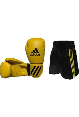 Adidas Kick Boks Seti Sarı 10 oz