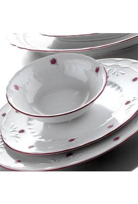 Kütahya Porselen Mina Pembe 48 Parça 12 Kişilik Yemek Takımı