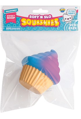 Soft'n Slo Squishy Purple & Blue Cupcake (S)