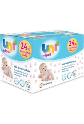 Uni Baby Wipes Islak Havlu 24'lü Fırsat Paketi / 1.536 Yaprak