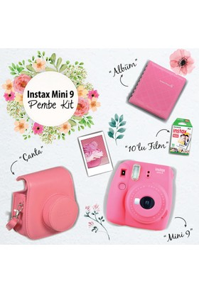 Instax Mini 9 Şipşak Fotoğraf Makinesi Set - Flamingo Pink