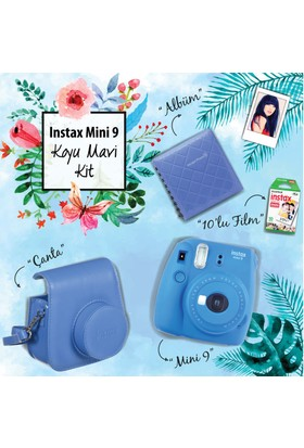 Instax Mini 9 Şipşak Fotoğraf Makinesi Set - Cobalt Blue