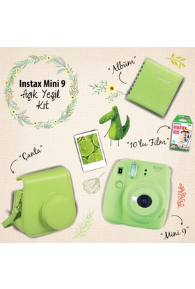Instax Mini 9 Şipşak Fotoğraf Makinesi Set - Lime Green