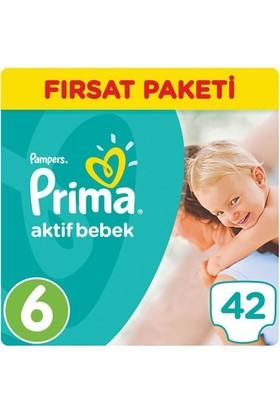 Prima Bebek Bezi Aktif Bebek 6 Beden Ekstra Large Fırsat Paketi 42 Adet