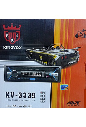 Kingvox Kv 3339 Sd/Usd/Aux Kafa Çıkmalı Teyp