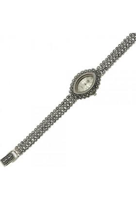 Tevuli 925 Ayar Gümüş Markazit Taşlı Sw13770 Kadın Kol Saati