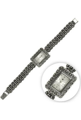 Tevuli 925 Ayar Markazit Taşlı Gümüş Sw10000 Kadın Kol Saati