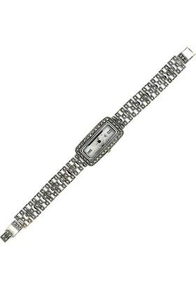 Tevuli 925 Ayar Markazit Taşlı Gümüş Saat Sw08635 Kadın Kol Saati