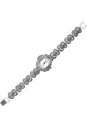Tevuli 925 Ayar Markazit Taşlı Gümüş Sw05591 Kadın Kol Saati