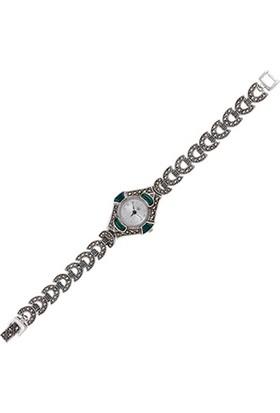 Tevuli 925 Ayar Markazit Taşlı Gümüş Sw01881 Kadın Kol Saati