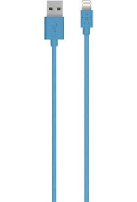 Belkin F8J023BT04 Apple Lightning Şarj ve Senkronizasyon Kablosu 1.2m Mavi