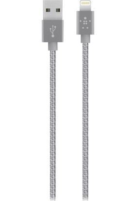 Belkin Premium 1.2m Lightning to USB Braided - Space Grey