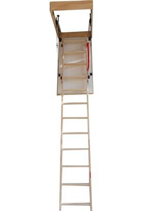 Maya Ahşap 60X120 Cm Katlanır Çatı Merdiveni