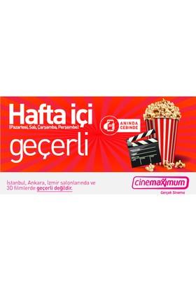 Tüm Cinemaximum'lar - (İstanbul, Ankara, İzmir Hariç - 3D Hariç) Hafta İçi (Pazartesi - Perşembe) Sinema Bileti