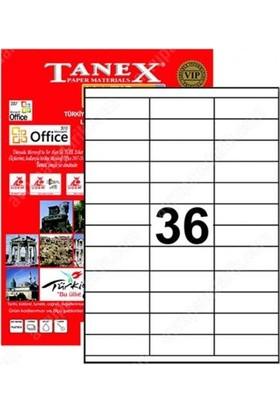 Tanex 70X23 Laser Etiket Tw-2433