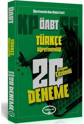Yediiklim Yayınevi Öabt Türkçe Öğretmenliği Tamamı Çözümlü 20 Deneme
