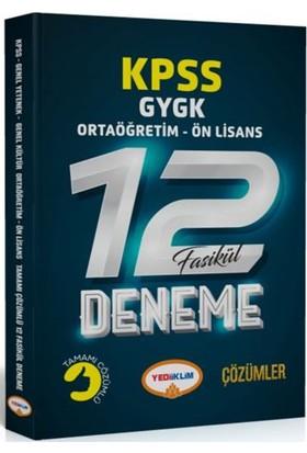 Yediilkim Yayınları 2018 Kpss Ortaöğretim-Önlisans Tamamı Çözümlü 12 Fasikül Deneme