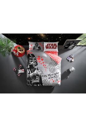 Taç Lisanslı Çift Kişilik Nevresim Star Wars Valentines Day