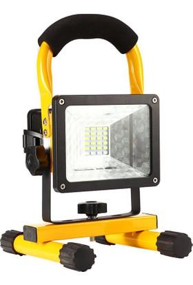 Şarjlı 10W Led Projektör 6500 Beyaz